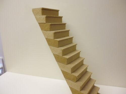 Maison De Poupées Bricolage 1//12 échelle 14 marches escaliers Kit DHD011