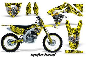Moto de Cross Pegatina Gráficos Kit + # Placas Envolvente Para Suzuki RMZ450