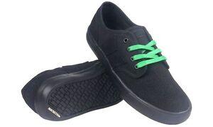 best service c063f e4799 Details zu Macbeth Langley Skate Shoes Black / Black Vegan Footwear sizes  UK 4-13