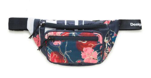 Desigual Scarlet Bloom Waist Bag Gürteltasche Tasche Rojo Abril Blau Weiß Neu