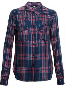 Paige Red M Shirt Check And Navy Size Ladies UOUr7