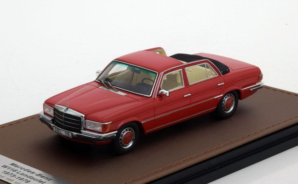 MERCEDES BENZ 208 SEL S KLASSE W116 LANDAULET rouge 1973 1979 GLM 207701 1 43