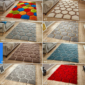 LARGE-3D-GEOMETRIC-COLOURFUL-FUNKY-THICK-PILE-HEXAGON-NOBLE-HOUSE-30782-RUG