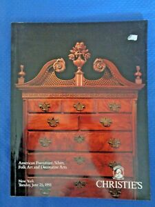 Christie S 1991 American Furniture Auction Catalog Mackay Service Butterfly Clip Ebay