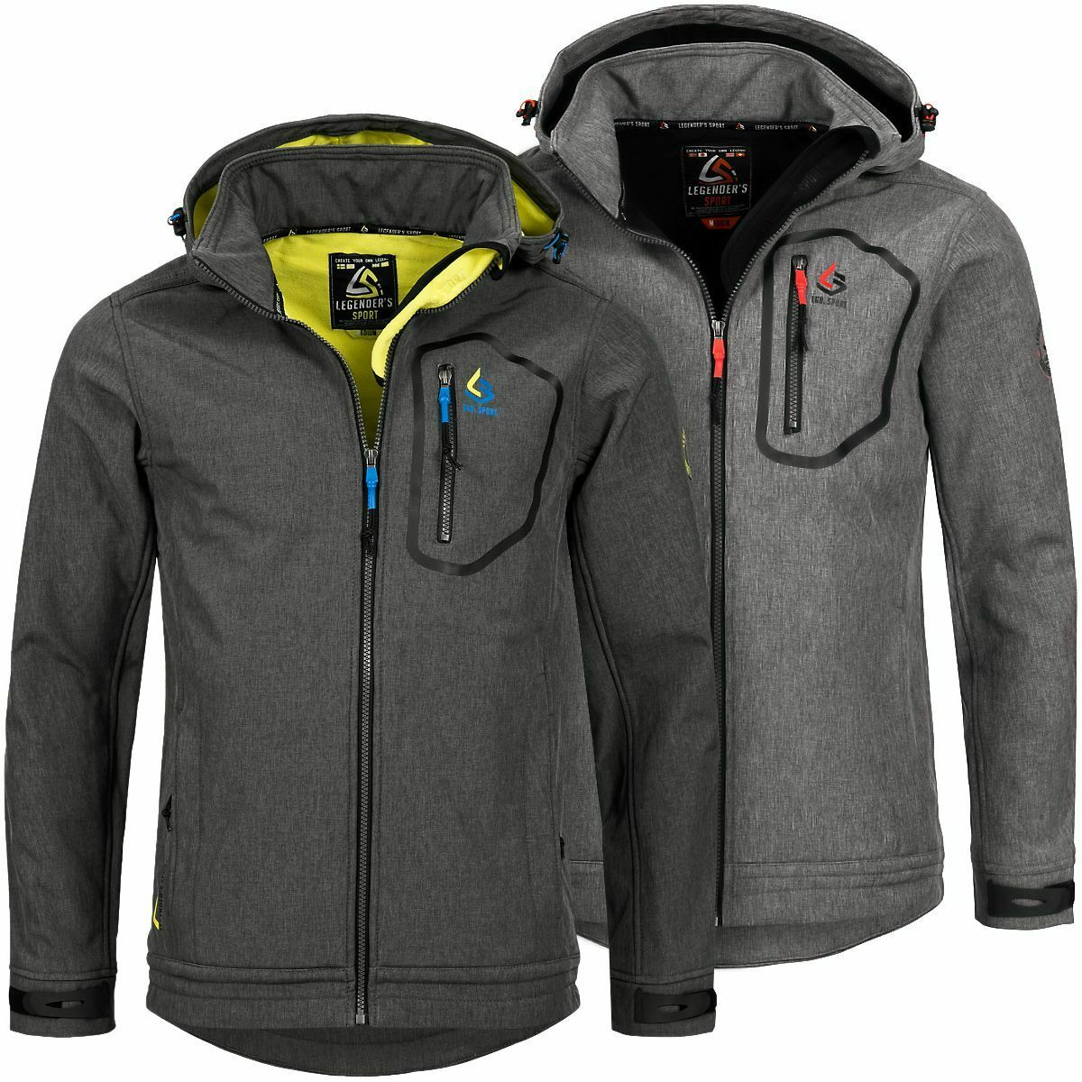 Herren Softshelljacke Jacke Regenjacke Funktionsjacke Legender´s Emotion