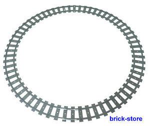 LEGO-Eisenbahn-1x-Schienenkreis-16x-gebogne-Schienen-60051-60052-60098-10254