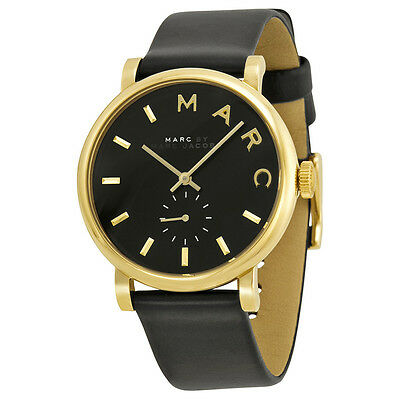 Marc by Marc Jacobs Baker Black Dial Leather Ladies Watch MBM1269