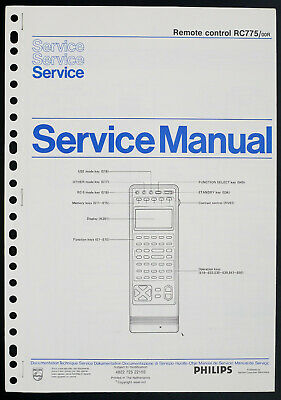 Philips Rc775 Original Remote Control Service-manual/diagram/parts List O212 Verbraucher Zuerst Tv, Video & Audio