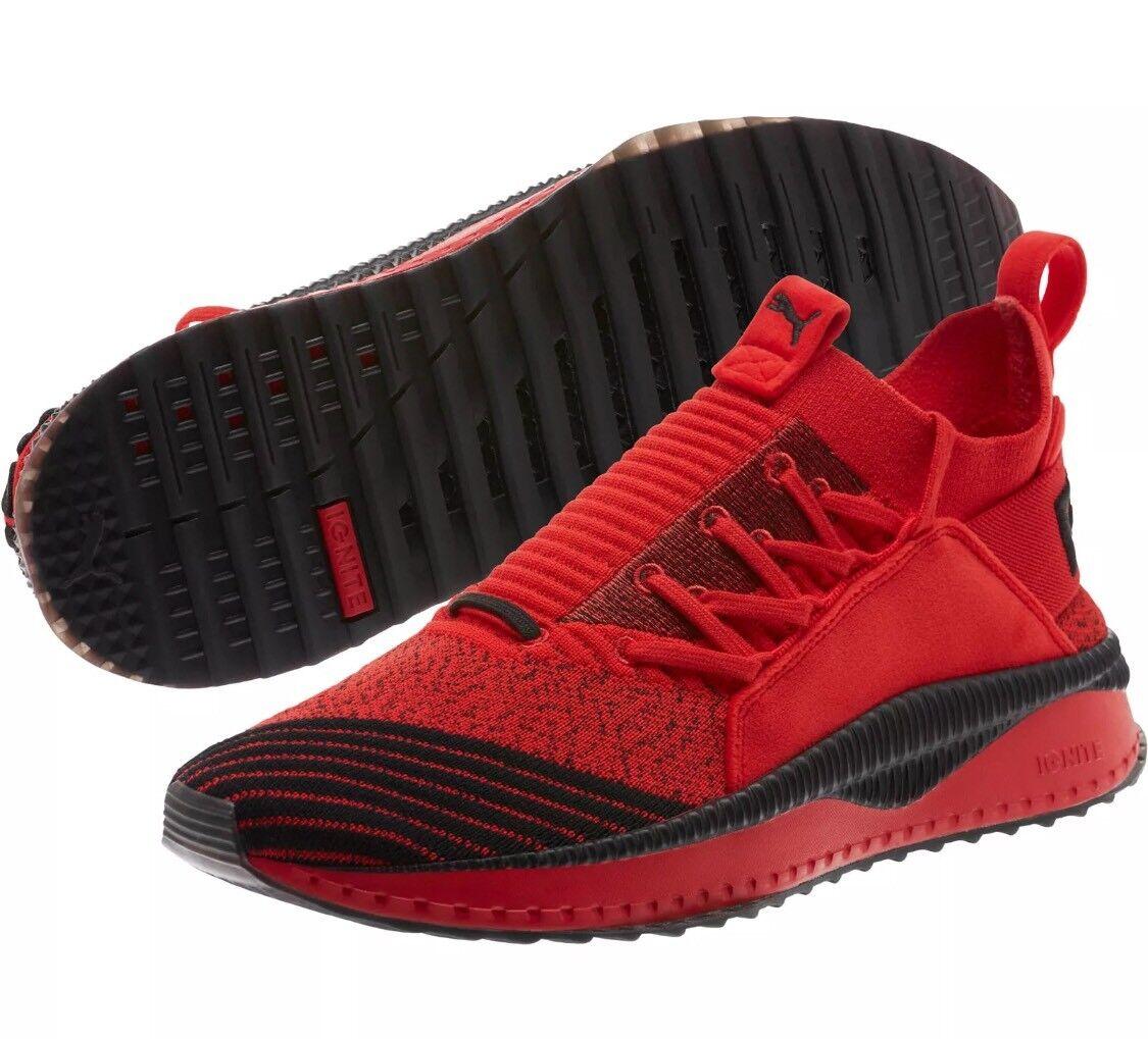 Puma X Fubu Tsugi Jun Running Sneaker High Risk Red Black Men Comfortable