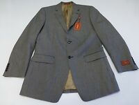 Izod Mens Size 40l Black & Grey Tiny Checkered 2 Button Blazer