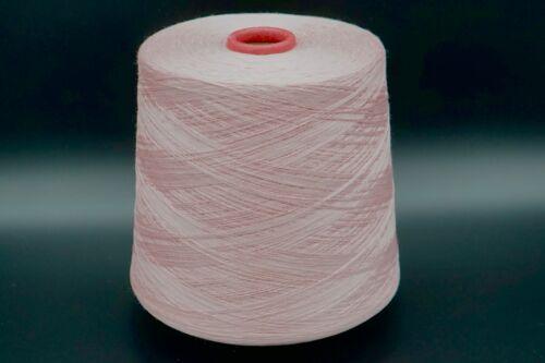 Rosa Viskose 1100gr Polyester Elasten Garn Wolle Strick Häkeln Weben B24c