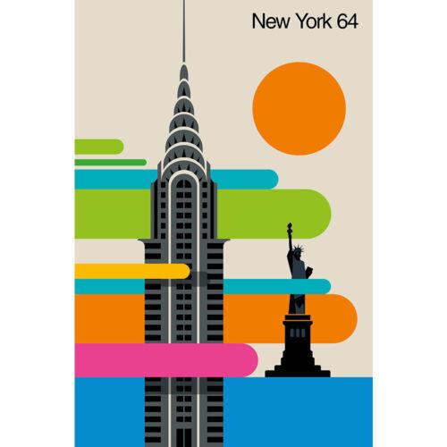 New York 64 Wall Mural by Bo Lundberg WS-52327/_WP