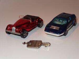 (k) Corgi Rockets Lot De 2 Mercedes & Morgan Avec Clé-afficher Le Titre D'origine