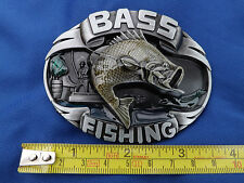 Oval Bass Fishing Fish Fisherman Metal Belt Buckle Lure Rod