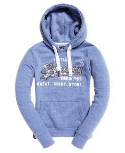 Womens-Superdry-Shirt-Shop-Sequin-Hoodie-sweatshirt-hoody-rrp-50