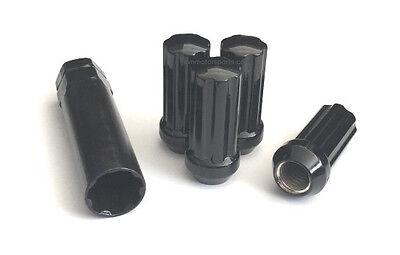 """2.00/"""" Tall 32 Premium Black Duplex 7 Spline Drive//Tuner Wheel//Lug Nuts 12x1.75"""