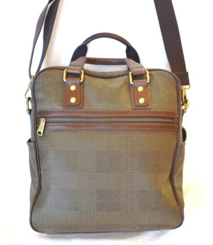 Fossil neuf vert cuir New en tui vertical de marron transport Green lJcuTF3K1