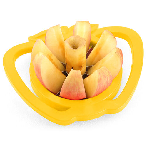 Apple & Pear Corer Slicer Cutter Core 2 Handed Wedger Fruit Easy Cut Segments