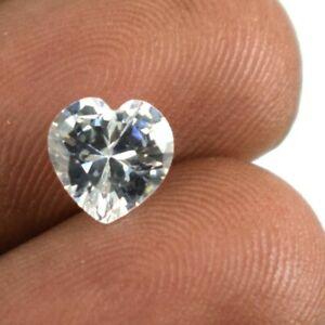Heart Shape White Sapphire Gems Natural 2.15 Ct Certified A16022 Valentine's Day