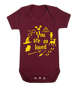 8a7705b3a You are so Loved Harry Potter Inspired Baby Vest Babygrow Baby ...