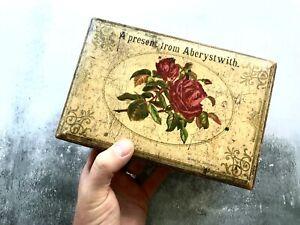 Antique-Victorian-Welsh-Wooden-Souvenir-Box-039-Aberystwith-039