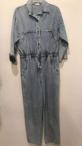 Vintage Denim Jumpsuit Romper 80s Ideas Blue Jean