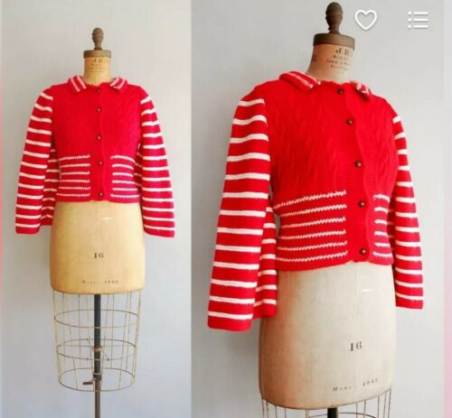 1960's 1970's Does 1930's Candystripe Knit Sweater