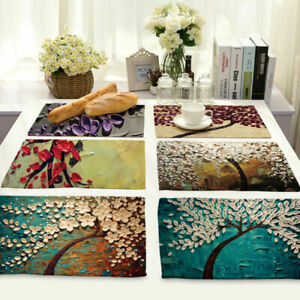 Three-dimensional-Painting-Cotton-Linen-Placemat-Dining-Table-Mat-Home-Kitchen