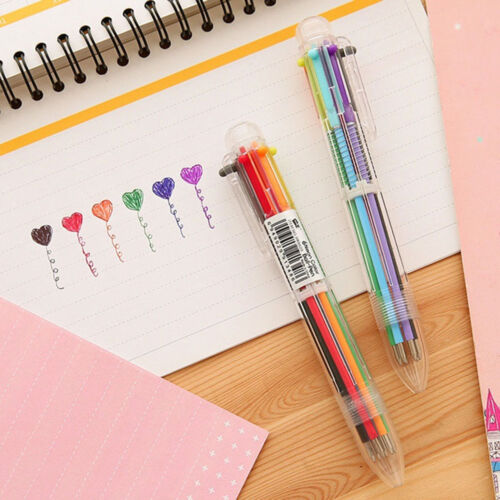 1 Schreibwaren Multi-Color Kugelschreiber 6 Farben Kugelschreiber Study Pen BC