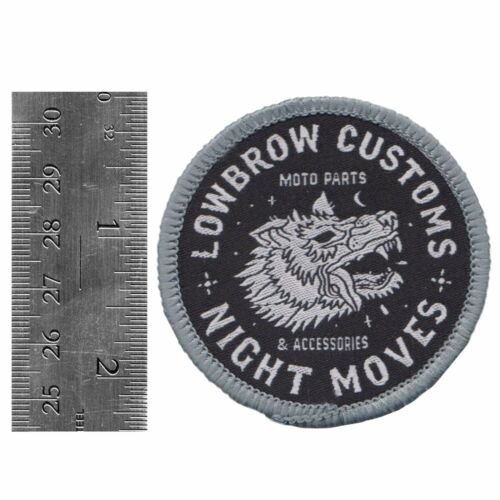 Lowbrow Customs Night Moves Patch chopper Harley patch Shovelhead Sportster