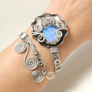 Handmade-Moonstone-Bangle-Bracelet