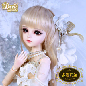Free Eyes Clothes FULL SET Outfit 1//3 BJD Doll Girl Gift Face Makeup Wig