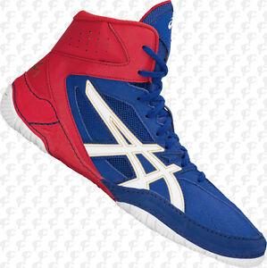 esférico bibliotecario Pakistán  ASICS Cael V8.0 Mens Wrestling Shoes 1081A002.400 Blue-Wh-Red FREE SHIP    eBay