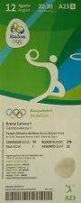 mint TICKET 12.8.2016 Olympic Rio Basketball Men's France - Venezuela # A23