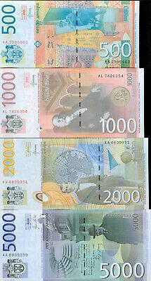 Lot Serbian banknotes 10 200 500 dinars UNC 50 20 100