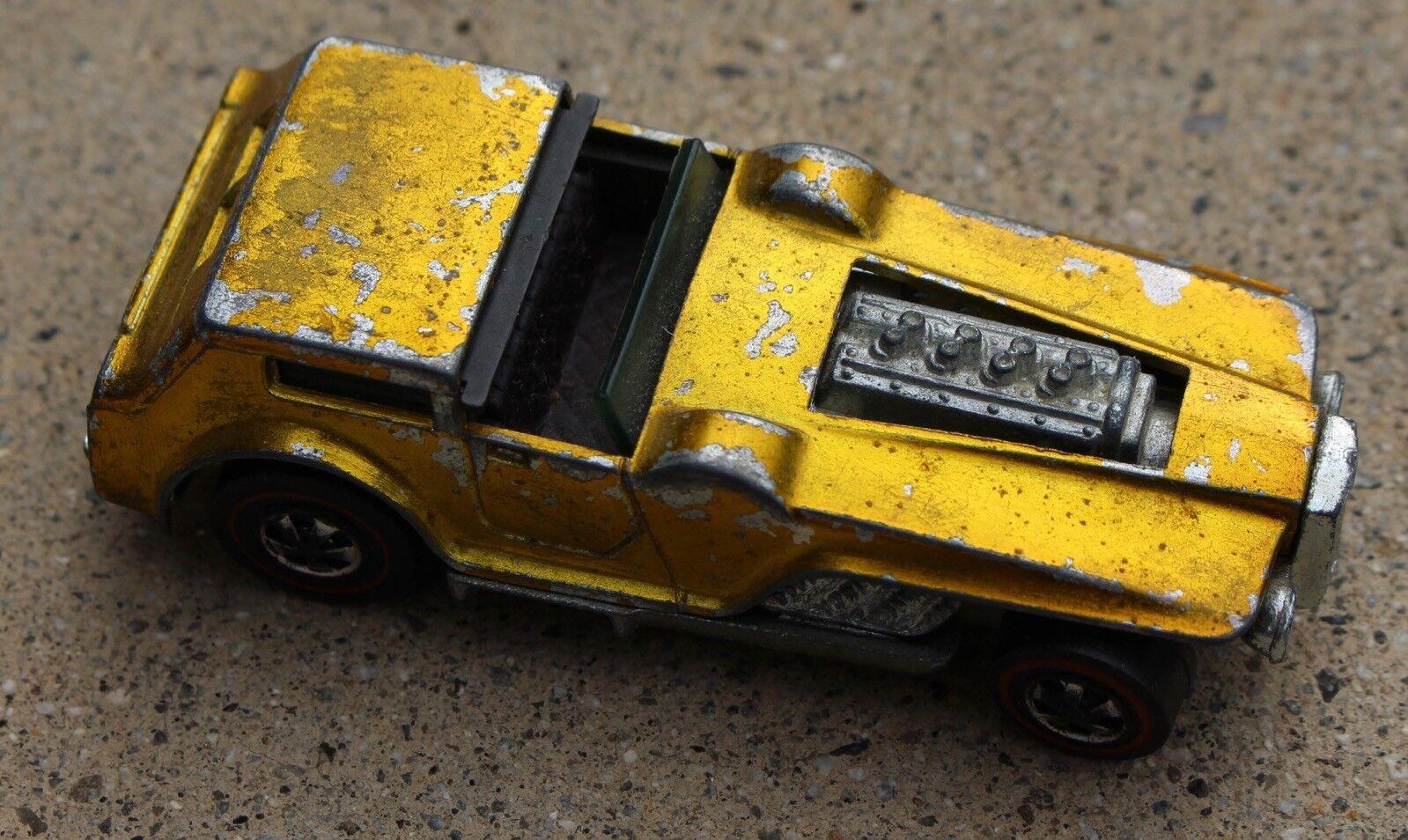 Jahrgang 1970 hot wheels rotline die kapuze chrome gelbe druckguss spielzeugauto.