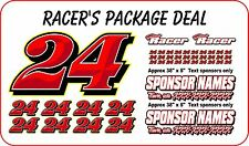RACE CAR NUMBER PACKAGE  DIRT LATE MODEL MODIFIED STREET STOCK IMCA