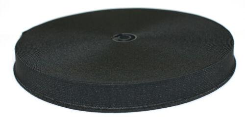 "32mm 1.25/"" 25m Reel Black Elastic"