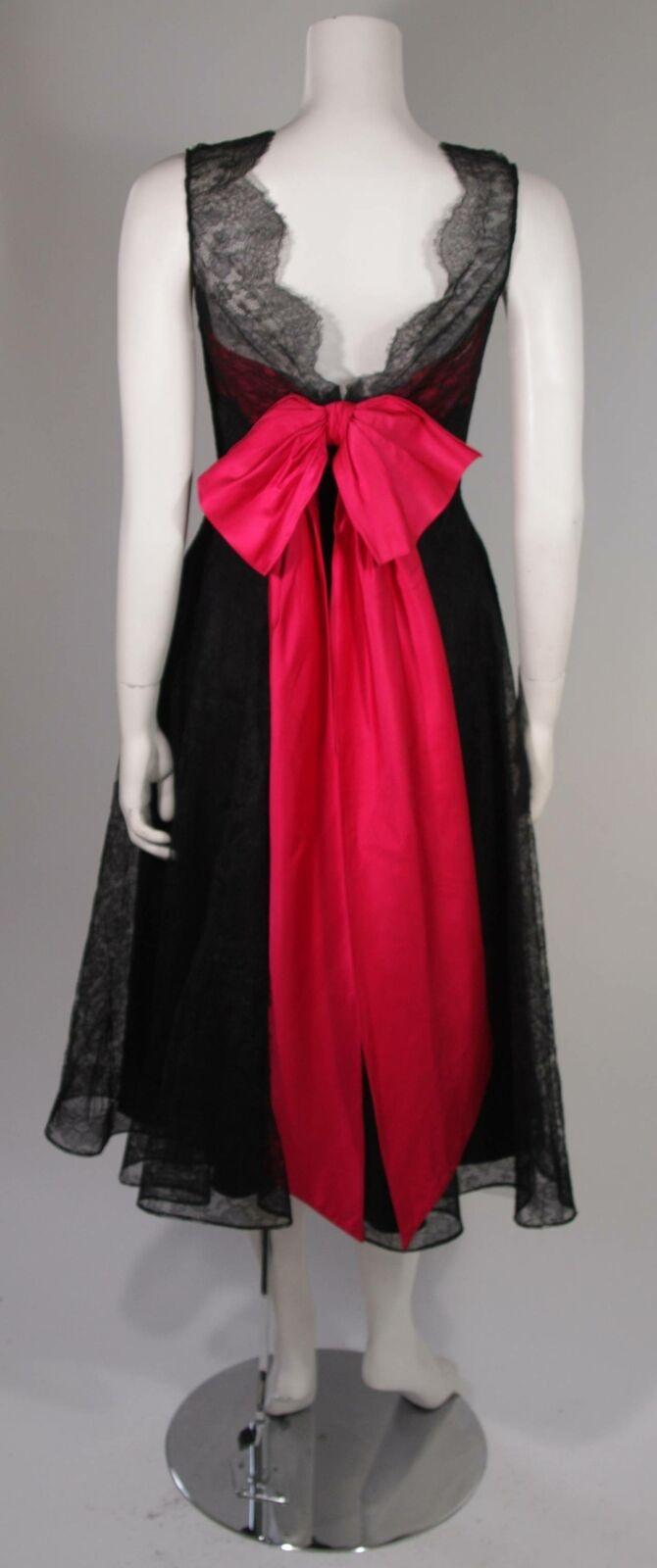 CEIL CHAPMAN Black Lace Cocktail Dress with Large… - image 10