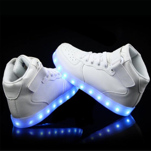 Flashing Kids Girl Boy LED Light Up Shoes Trainers USB Charger Luminous Sneakers