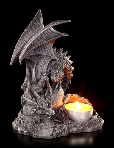 Dragón teelichthalter izquierda-gótica candeleros personaje Fantasy