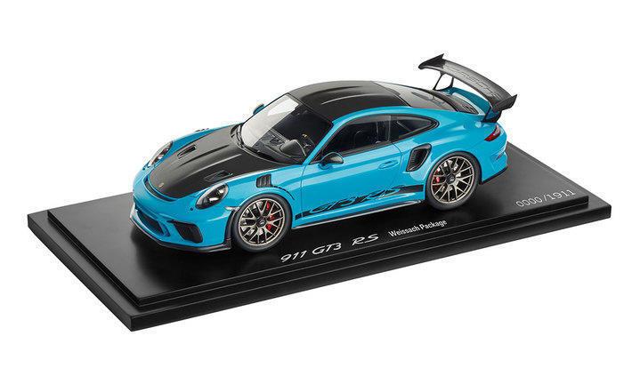 Spark Porsche 911 991 GT3 Rs Miami blu con   Expositor Dealer Ed Le de 991 1 18