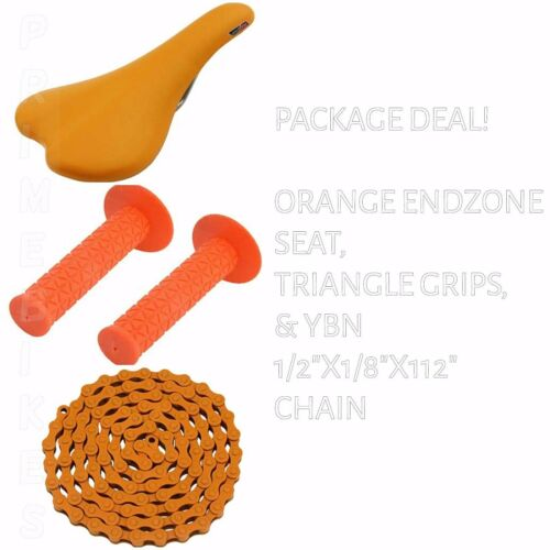 BICYCLE SEAT GRIPS CHAIN ORANGE BIKES BMX ROAD MTB FIXIE CYCLING PACKAGE DEAL