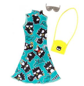Barbie Hello Kitty Fashionista Pack NIP Aqua Green Badtz Maru Dress Badtz Purse+