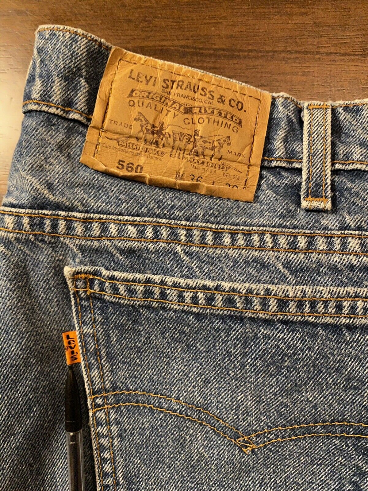 Vintage Levis (Orange Tab) Made In USA - image 1