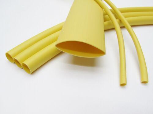 "2 FEET 1//16/"" Yellow Heat Shrink Tube 3:1 Dual Wall Adhesive Glue Marine//to"