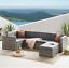 miniatura 4 - Evre MONACO Rattan Mobili da Giardino esterno divano impostato con tavolino