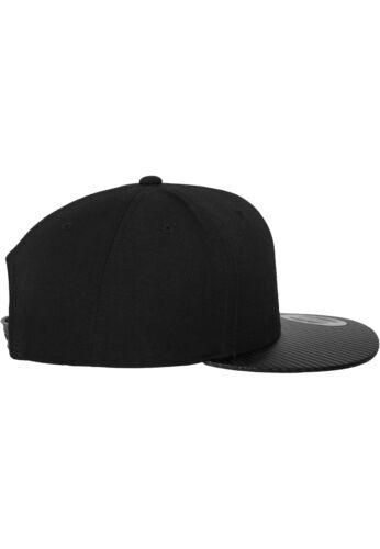 Flexfit ® Carbon /& FULL LEATHER imitazione Snapback Cap Classic Yupoong cappuccio ha