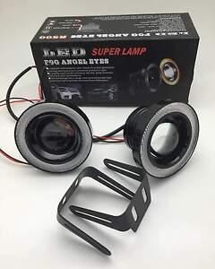 "2 x 3"" Angel Eyes Bianco Auto Fog light Lampada per Proiettore Drl CON COB LED"