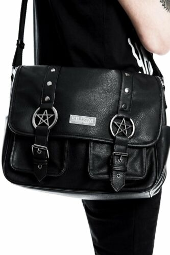 Killstar Ritual Ring Pentagram Goth Punk Witch Vegan Messenger Bag K-BAG-U-1912
